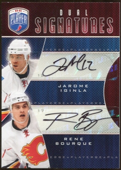 2009 10 Upper Deck Be A Player Signatures Duals #S2IB Rene Bourque Jarome Iginla Autograph