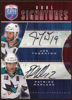 2009/10 Upper Deck Be A Player Signatures Duals #S2MT Patrick Marleau/Joe Thornton Autograph