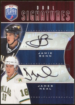 2009 10 Upper Deck Be A Player Signatures Duals #S2NB James Neal Jamie Benn Autograph