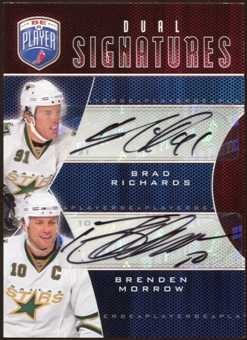 2009/10 Upper Deck Be A Player Signatures Duals #S2RM Brenden Morrow/Brad Richards Autograph