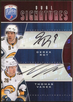 2009 10 Upper Deck Be A Player Signatures Duals #S2RV Derek Roy Thomas Vanek Autograph