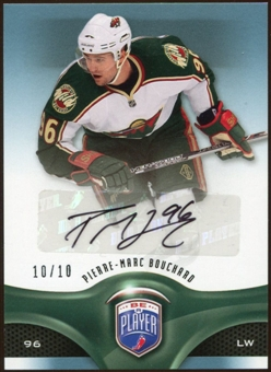 2009/10 Upper Deck Be A Player Signatures Player's Club #5 Pierre-Marc Bouchard Autograph 10/10