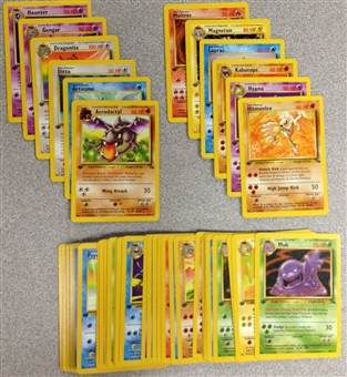 Pokemon Fossil 1st Edition Common and Uncommon Set