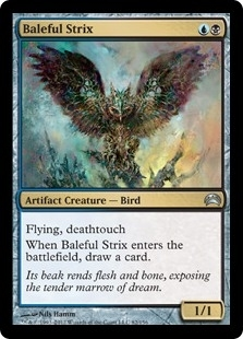 Magic the Gathering Planechase Single Baleful Strix - NEAR MINT (NM)