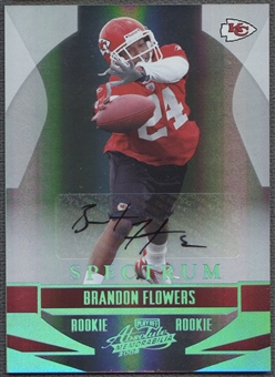 2008 Absolute Memorabilia #161 Brandon Flowers Rookie Spectrum Platinum Auto #1/1