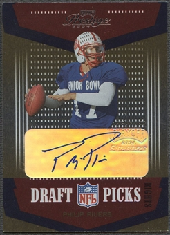 2004 Playoff Prestige #DP4 Philip Rivers Rookie Draft Picks Auto #04/50