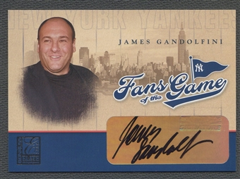 2004 Donruss Elite #201 James Gandolfini Fans of the Game Auto