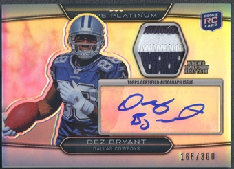 2010 Topps Platinum #DB Dez Bryant Rookie Patch Auto #166/300