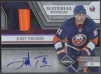 2010/11 Limited #27 John Tavares Material Monikers Prime Patch Auto #08/10