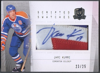 2009/10 The Cup #SSJK Jari Kurri Scripted Swatches Patch Auto #23/25