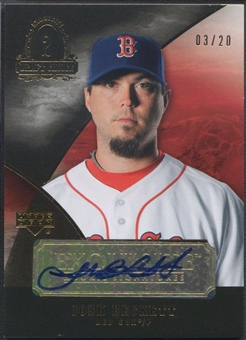 2007 Exquisite Collection Rookie Signatures #JB Josh Beckett Draft Choice Auto #03/20