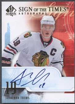 2008/09 SP Authentic #STJT Jonathan Toews Sign of the Times Auto