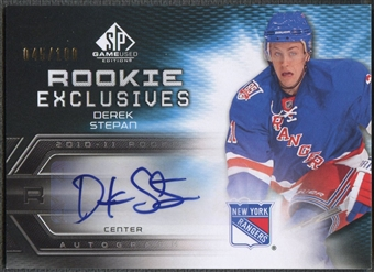 2010/11 SP Game Used #REDS Derek Stepan Rookie Exclusives Auto #045/100