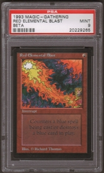 Magic the Gathering Beta Single Red Elemental Blast PSA 9
