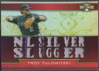 2011 Topps Triple Threads #TTR138 Troy Tulowitzki Relics Jersey #15/36