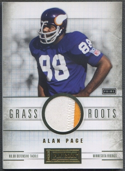 2011 Panini Playbook #83 Alan Page Grass Roots Materials Prime Patch #17/25
