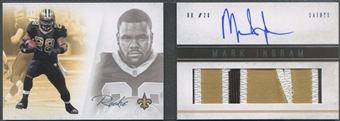 2011 Panini Playbook #125 Mark Ingram Rookie Platinum Patch Auto #18/25