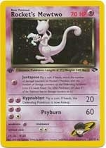 Pokemon Gym Challenge 1st Edition Single Rocket's Mewtwo 14/132