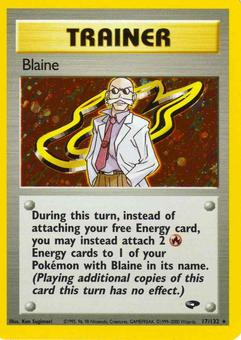Pokemon Gym Challenge Single Trainer Blaine 17/132 - NEAR MINT (NM)