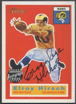 2001 Topps Heritage #THROEH Elroy Hirsch Real One Auto