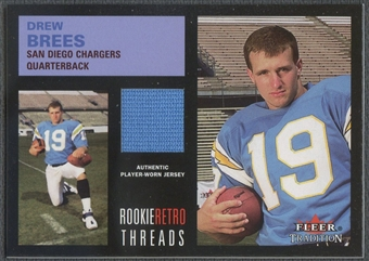 2001 Fleer Tradition #6 Drew Brees Rookie Retro Threads Jersey