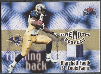 2001 Fleer Premium #5 Marshall Faulk Respect Patch #42/80