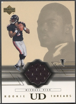 2001 Upper Deck #RTMV Michael Vick Rookie Threads Jersey