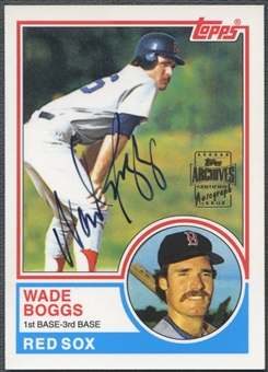 2001 Topps Archives #TAA164 Wade Boggs Auto
