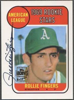 2001 Topps Archives #TAA114 Rollie Fingers Auto