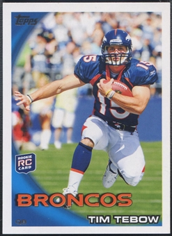 2010 Topps #440A Tim Tebow Rookie Leaping Pose