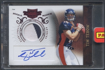 2010 Panini Plates and Patches #234 Tim Tebow Rookie Patch Auto #409/499