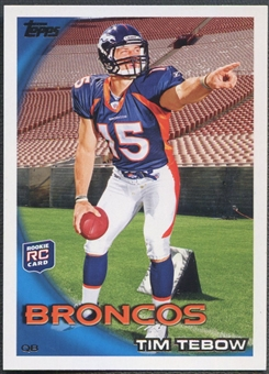 2010 Topps #440B Tim Tebow Rookie SP Pointing His Finger