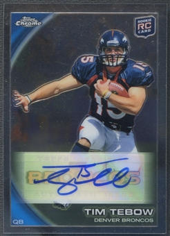 2010 Topps Chrome #C100 Tim Tebow Rookie Auto