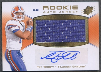 2010 SPx #102 Tim Tebow Rookie Jersey Auto #07/99