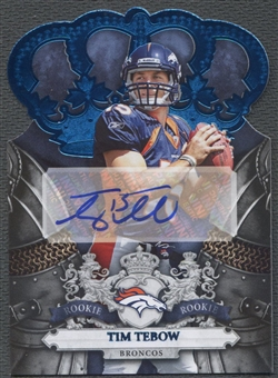 2010 Crown Royale #211 Tim Tebow Blue Rookie Auto #14/25