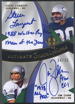 2009 Ultimate Collection #LZ Steve Largent & Jim Zorn Ultimate Inscriptions Dual Auto #34/35