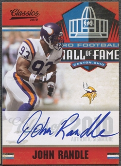 2010 Classics #6 John Randle Hall of Fame Auto #43/50