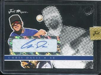 2008 Just Autographs Preview Signatures Autograph Black #JAPR-04 Chris Davis 18/25