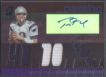 2006 Topps Paradigm #PTBR Tom Brady Career Highs Triple Jersey Auto #52/99