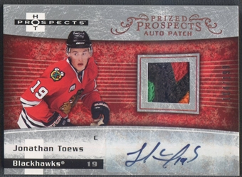 2007/08 Hot Prospects #249 Jonathan Toews Rookie Patch Auto #104/199