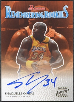 2003/04 Bowman #RRSO Shaquille O'Neal Remembering Rookies Auto