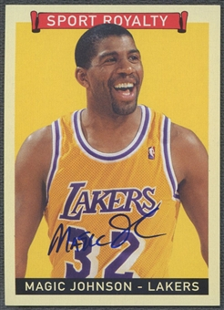 2008 Upper Deck Goudey #MJ Magic Johnson Sport Royalty Auto SP