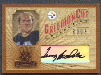 2002 Gridiron Kings #GC20 Terry Bradshaw Gridiron Cut Collection Auto #141/160