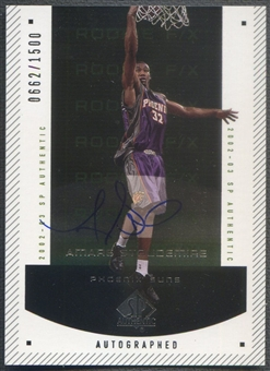 2002/03 SP Authentic #150 Amare Stoudemire Rookie Auto #0662/1500