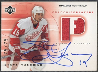 2001/02 UD Challenge for the Cup #FPYZ Steve Yzerman Jersey Auto #75/75
