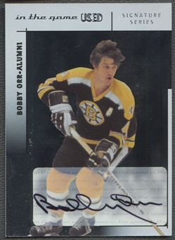 2003/04 ITG Used #BO Bobby Orr Signature Series Auto /50