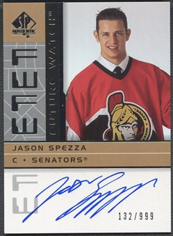 2002/03 SP Authentic #191 Jason Spezza Rookie Auto #132/999