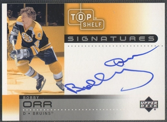 2002/03 UD Top Shelf #BO Bobby Orr Signatures Auto /96