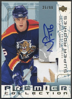 2003/04 UD Premier Collection #113 Nathan Horton Rookie Patch Auto #25/99