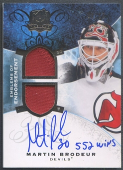 2008/09 The Cup #EEMB Martin Brodeur Emblems of Endorsement Patch Auto #02/15